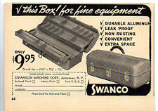 1950 Vintage Ad Swanco Aluminum Fishing Tackle Boxes Jamestown,NY