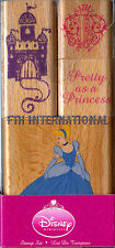Cinderella ~ 4 piece Disney Wood Mount Rubber Stamp Set #48772, Princess, Castle