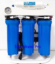 RO Reverse Osmosis Water Filter 5 Stage System 150 GPD-Booster Pump & PSI Gauge