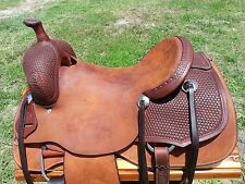 "16"" Johnny Scott Ranch Cutting Saddle (Made in Texas) Cutter"