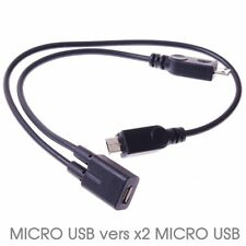 Cable Adaptateur Micro USB vers x2 Micro USB Splitter Y Charge Samsung HTC Sony