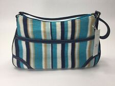 The Sak Blue Strip Knited Tote Hobo Shoulder Purse Bag Handbag Rachel