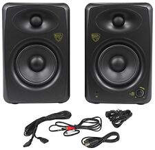 "Rockville ASM5 5"" 2-Way 200W Active/Powered USB Studio Monitor Speakers Pair"