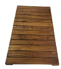 Bathroom Shower and anywhere Solid Premium African Teak Wood Mat  28 x 20