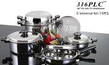 316 PLC WATERLESS STAINLESS HEALTH COOKWARE  C SET