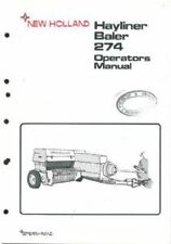 NEW HOLLAND 274 HAYLINER BALER OPERATORS MANUAL
