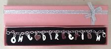 One Direction 1D Charm Bracelet with Pink Gift Box