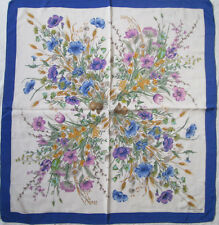 -AUTHENTIQUE Foulard FRANCESCO SMALTO  soie TBEG  vintage  82 x 88 cm