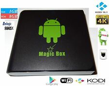 Magic Box Android TV Box s905x 1gb RAM 8gb HD Wi-Fi NUOVO Kodi 16.1 Android 6.0 O/S