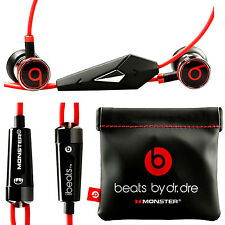 ORIGINALE Monster Ibeats Beats By Dr. Dre In-Ear Headset cuffie nero ---