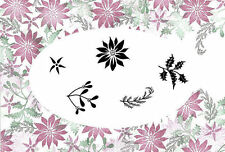 New Card-io Majestix Clear Stamps Peg Stamps Festive Bouquet