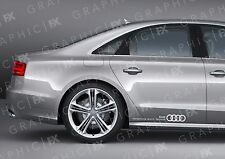 x2 Premium Audi Audi Vorsprung Durch Technik Logo Car Bodywork Stickers