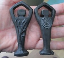 Miniature Black Spiral Lord 2 Sided Wiccan Pagan Statue #BMSL
