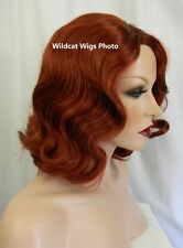 Relaxed FINGER WAVE Wig .. Sepia Eternity Wig .. Fingerwave .. Foxy Red! *