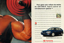 Publicité Advertising 1995  (Double page)  TOYOTA COROLLA