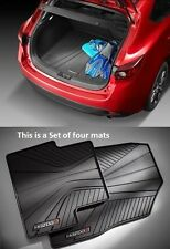 Mazda 3 (5-door)  Mazda Cargo Tray with  All-Weather Floor Mats 2014-2017