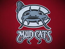 CAROLINA MUDCATS #32 on back Red Baseball t-shirt size Men's XL 22.5 in by 30 in