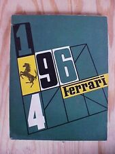Ferrari Year Book 1964 250LM GTO 275P 330P TIPO 156 F-1 Vintage OEM