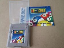 GAMEBOY SIDE POCKET Game  CART AND MANUAL EX CONDITION UK PAL POOL