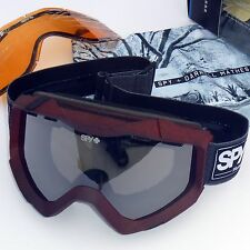 Spy Zed Snow Goggles-Darrell Mathes Frame/Grey w. Black Mirror Lens + Spare