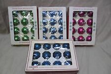 """48 Vintage Glass Christmas Balls Lot, 2"""" made in the USA. All in original Box."""