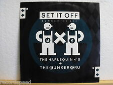 "★★ 12"" Maxi - HARLEQUIN 4´s / BUNKER KRU - Set It Off (Bunker ´88 Mix) UK Press"