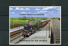 Sierra Leone 1995 MNH Railways of World 1v S/S I Steam Locomotives Trains Stamps