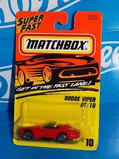 Matchbox Super Fast 1995-96 Release #10 Dodge Viper RT/10 Red