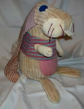 "Original Les Deglingos Bunny Rabbit 10 1/2"" Plush French Design"