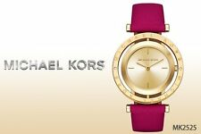 NWT Michael Kors Women's Averi Pink Leather Strap Watch 33mm MK2525