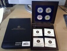 Canada 2011 & 2012 RCM Full Moon $5 Silver & Niobium 4-Coin Set in Display Box