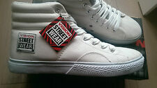 new SKATEBOARD WHITE vision street wear LEATHER HI trainers UK size 11