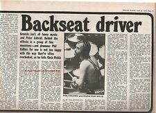 GENESIS backseat driver 1975 UK ARTICLE / clipping