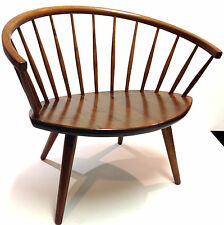 Stolab Yngve Ekstrom Oak Mid Century Modern Chair Made in Sweden c.1955