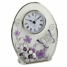 Juliana Crystal Butterfly Table clock, Multi-Colour, 561CK