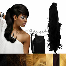 Clip in Ponytail Wrap Around Ponytail Extensions - Ideal For Afro Hair & Weaves