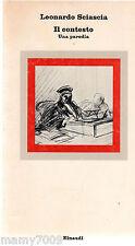 LIBRO=IL CONTESTO Una Pardodia=Leonardo Sciascia=EINAUDI 3° EDIZIONE 1977
