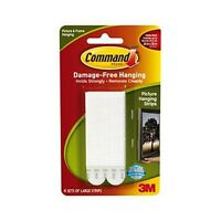 3M Command Strips Poster / Picture Hanging Hangers Large 17206 4 pack