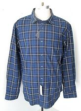 NWT Tommy Hilfiger Sailor Navy Windowpane Plaid Cotton Dress Shirt Slim Fit XL