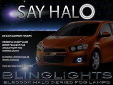 Chevy Sonic Halo Fog Lamps Angel Eye Driving Light Kit Set LS LT Sedan Hatchback