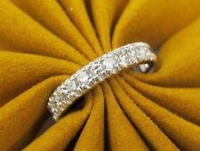 Platinum Diamond Eternity Wedding Band Women's Diamond Ring