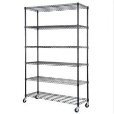 "48"" x 18"" x 72"" Adjustable 6 Tier Shelf Steel Wire Metal Shelving Rack Storage"