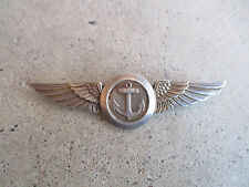 WWII US USN Navy Anchor Balfour sterling Pilot Wings pin