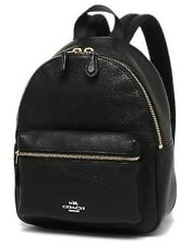 Coach Charlie Backpack Pebble Leather Black F38263 NWT 50%OFF