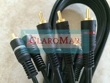 ☀️ 6 Foot Component Cable 5 Video Audio AV HDTV DVR VCR Gold Tip (#B)