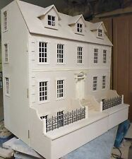 Dalton House 3ft wide Dolls House with Basement 1:12 Scale in KIT - FREE UK P&P