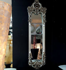 French Shabby Chic Vintage Ornate Wall Mirror 160x45cm Champagne/Antique Silver