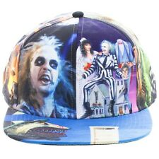 BEETLEJUICE SUBLIMATED ALL OVER PRINT SNAPBACK HAT CAP ADJUSTABLE FLAT BILL NWT