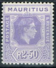 Mauritius 1938 2R50 Pale Violet SG261 Chalk Paper Fine Lightly Mtd Mint