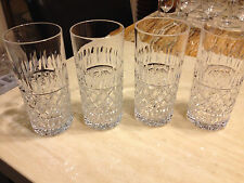 SET OF 3 TUDOR FROBISHER CRYSTAL DOUBLE OLD FASHIONED GLASSES